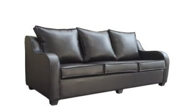 LOGAN 3SEATER SOFA (2100 X 900) 'PU' BLACK