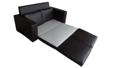 MOD SLEEPER COUCH 'BONDED PU' black