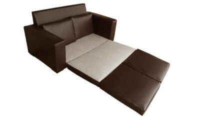 MOD SLEEPER COUCH 'BONDED PU' brown