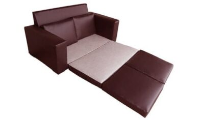 MOD SLEEPER COUCH 'LEATHER STD' oxblood