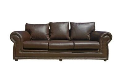 ROXANNE 3SEATER SOFA (2500 X 900) 'PU' brown
