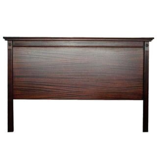 ANTIQUE FLUTED HEADBOARD (DOUBLE) 'DARK MAHOGANY'