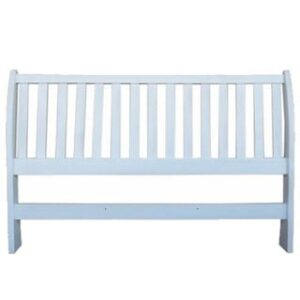 BUD SLEIGH HEADBOARD (KING) 'WHITE'