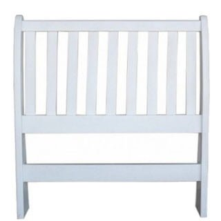 BUD SLEIGH HEADBOARD (SINGLE) 'WHITE'