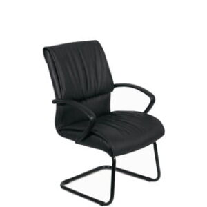 FALCON VISITORS CHAIR 'PU' BLACK