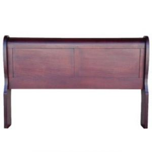 KAREN SLEIGH HEADBOARD (DOUBLE) 'LIGHT MAHOGANY'