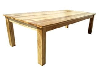 LOCAL DINING TABLE 8STR (2400 x 1100) 'TULIP' solid hardwood