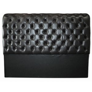 CHESTERFIELD HEADBOARD (DOUBLE) 'BONDED PU' black