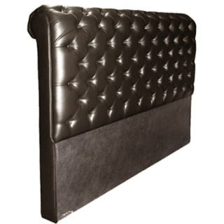 CHESTERFIELD HEADBOARD (DOUBLE) 'BONDED PU' brown