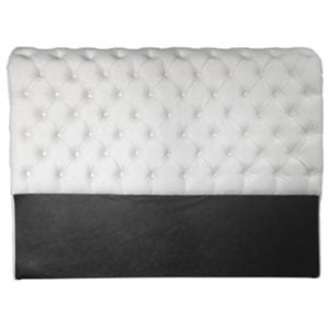 CHESTERFIELD HEADBOARD (DOUBLE) 'BONDED PU' white