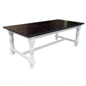 MC GILL DINING TABLE (1600 X 900) '2TONED distressed white/wallnut'