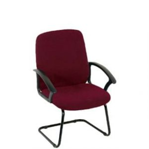 MONTANA VISITORS CHAIR 'BURGUNDY'