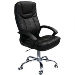 MUSTANG HIGH BACK OFFICE CHAIR 'CHROME BASE'