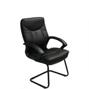 MUSTANG VISITORS CHAIR 'BLACK BASE'