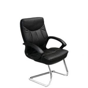 MUSTANG VISITORS CHAIR 'CHROME BASE'