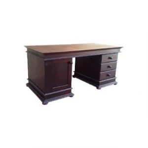 ANTIQUE PARTNER DESK+DRAWERS (1570) 'dark mah'