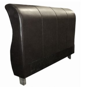 SLEIGH HEADBOARD (DOUBLE) 'PU' black