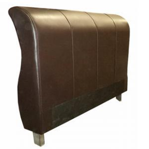 SLEIGH HEADBOARD (DOUBLE) 'BONDED PU' brown