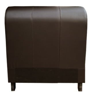SLEIGH HEADBOARD (SINGLE) 'BONDED PU' brown