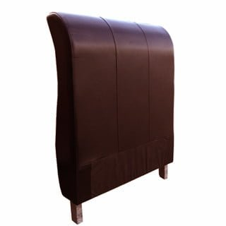 SLEIGH HEADBOARD (SINGLE) 'LEATHER STD' cape oxblood