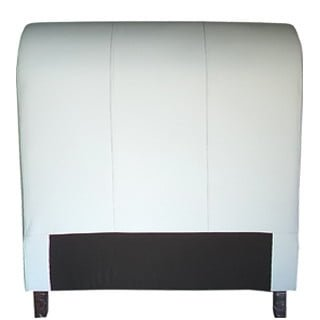 SLEIGH HEADBOARD (SINGLE) 'BONDED PU' white