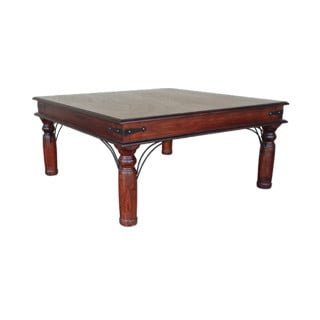 ANNA COFFEE TABLE SQUARE (1000 x 1000) 'LIGHT MAHOGANY'