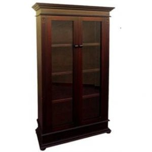 ANTIQUE BOOKCASE (1040 X 1890) GLASS 'dark mahogany'