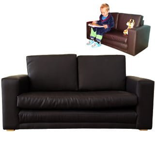 BABY SLEEPER COUCH 'BONDED PU' black