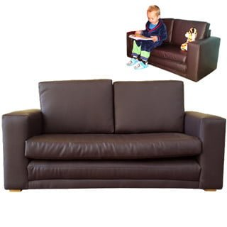 BABY SLEEPER COUCH 'BONDED PU' brown