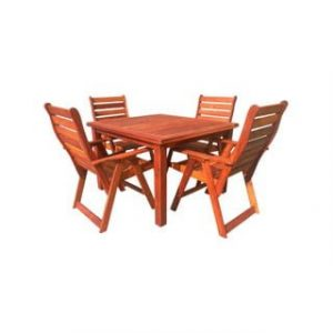 BAY 5PC DINING SET (1100 TABLE) 'SOLID TEAK'