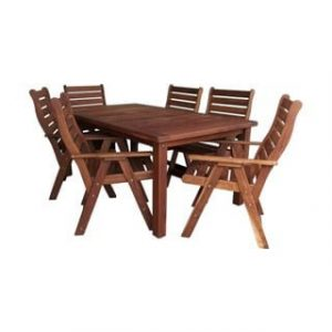 BAY 7PC DINING SET (1800 TABLE) 'SOLID TEAK'