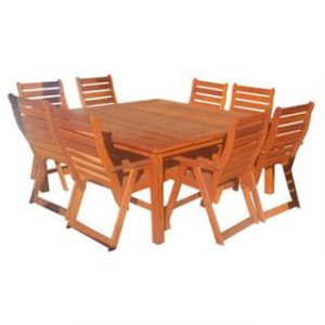 BAY 9PC DINING SET (SQUARE) 'SOLID TEAK'