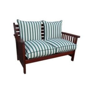 BAY 2SEATER MORRIS FIX BACK 'SOLID TEAK' EXCL CUSHIONS