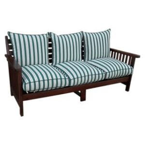 BAY 3SEATER MORRIS FIX BACK 'SOLID TEAK' EXCL CUSHIONS