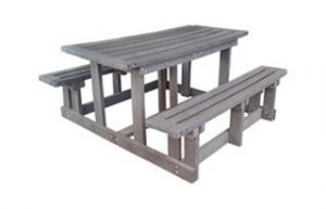 ECO 4SEATER RECTANGULAR BENCH 'RECYCLED PLASTIC'