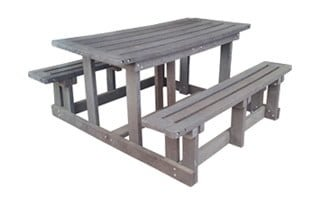 ECO 6SEATER RECTANGULAR BENCH  'RECYCLED PLASTIC'