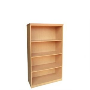 IMPACT 4TIER BOOKCASE (800 X 380 X 1500) OAK