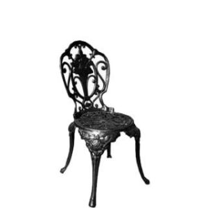 INDIAN ROSE CHAIR 'cast aluminium' black