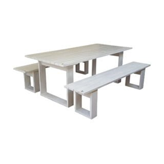 ISLAND PATIO TABLE 8STR (1800X100) PINE (white)