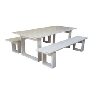 ISLAND PATIO TABLE 8STR (2200X100) PINE (white)