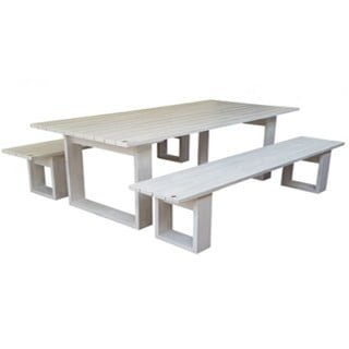 ISLAND PATIO TABLE 10STR (2700X100) PINE (white)