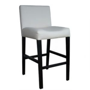 LUXURY STANDARD BAR CHAIR 'BONDED PU' white