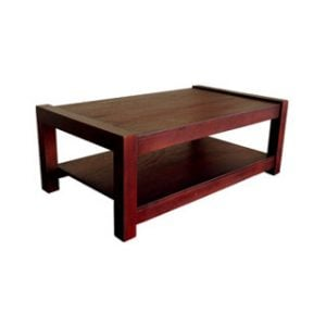 MOD COFFEE TABLE (1200 X 700) 'LIGHT MAHOGANY'