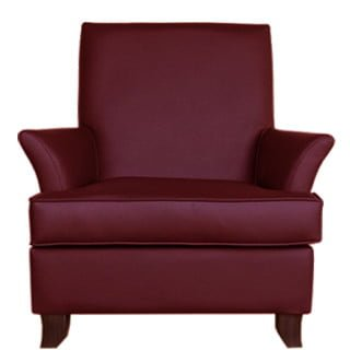 MODERNA OCCASIONAL CHAIR 'LEATHER STD' oxblood