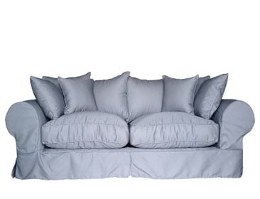 SLIP COVER 2SEATER SOFA (2000 X 950) 'PC TWILL' man grey