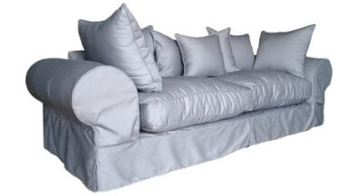 SLIP COVER 3SEATER SOFA (2500 X 950) 'PC TWILL' man grey