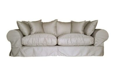 SLIP COVER 3SEATER SOFA (2500 X 950) 'PC TWILL' stone