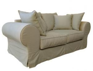 SLIP COVER 2SEATER SOFA (1970 X 950) 'PC TWILL' stone