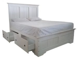 SAMOS 4DRW BED (DOUBLE) WHITE WASH