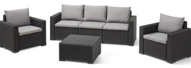 CALIFORNIA 4PC LOUNGE SET (incl cushions) GRAPHITE